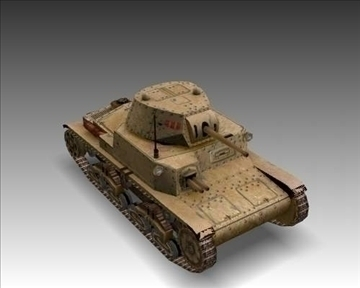 ww2 m13 40 italian medium tank. 3d model 3ds max x lwo ma mb obj 101585