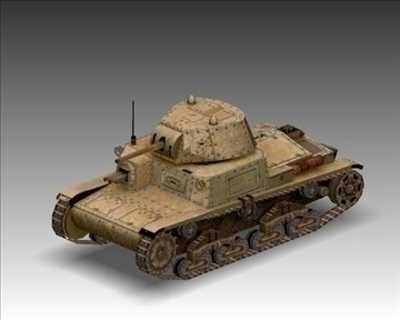 ww2 m13 40 italian medium tank. 3d model 3ds max x lwo ma mb obj 101586