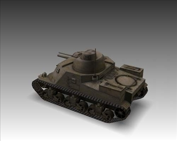 ww2 m3a1 grant american medium tank. 3d model 3ds max x lwo ma mb obj 101577