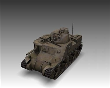 ww2 m3a1 grant american medium tank. 3d model 3ds max x lwo ma mb obj 101578