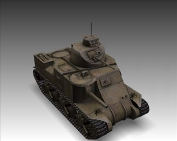 ww2 m3a1 grant american medium tank. 3d model 3ds max x lwo ma mb obj 101579