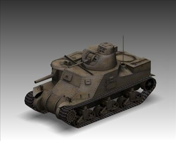 ww2 m3a1 grant american medium tank. 3d model 3ds max x lwo ma mb obj 101580