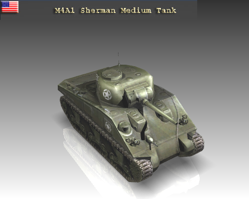 ww2 m4a1 sherman medium tank. 3d model 3ds max x lwo ma mb obj 111126