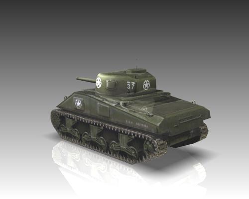 ww2 m4a1 sherman medium tank. 3d model 3ds max x lwo ma mb obj 111127