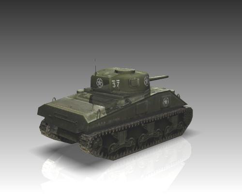 ww2 m4a1 sherman medium tank. 3d model 3ds max x lwo ma mb obj 111129