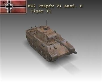 ww2 panzer vi ausf. b tiger ii 3d model 3ds max x lwo ma mb obj 102860