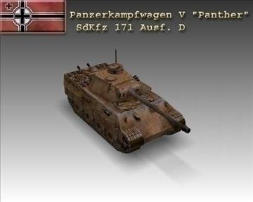 ww2 pz v panther sdkfz 171 ausf. d 3d model 3ds max x lwo ma mb obj 100916