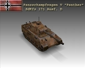ww2 pz v panther sdkfz 171 ausf. d 3d загвар 3-н max x lwo ma mb obj