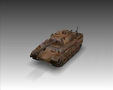 ww2 pz v panther sdkfz 171 ausf. d 3d model 3ds max x lwo ma mb obj 100918
