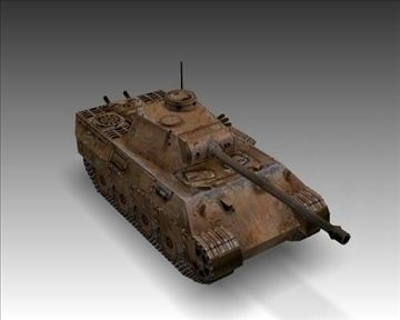 ww2 pz v panther sdkfz 171 ausf. d 3d model 3ds max x lwo ma mb obj 100919