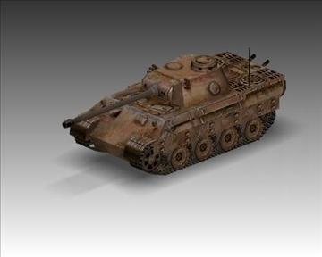 ww2 pz v panther sdkfz 171 ausf. d 3d model 3ds max x lwo ma mb obj 100920