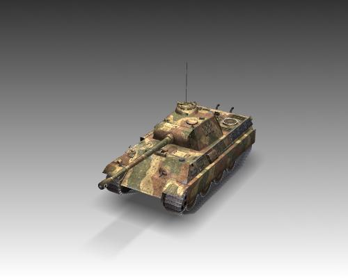 ww2 pz v panther sdkfz 171 ausf. g 3d model 3ds max c4d x lwo ma mb obj 111188