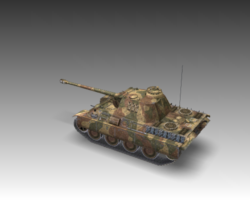 ww2 pz v panther sdkfz 171 ausf. g 3d загвар 3ds max c4d x луу 111189