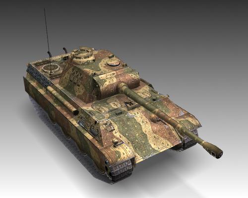 ww2 pz v panther sdkfz 171 ausf. g 3d model 3ds max c4d x lwo ma mb obj 111190