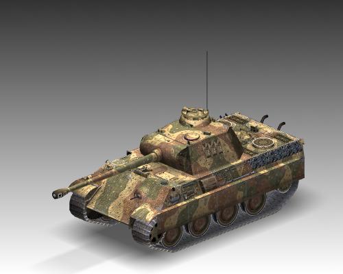 ww2 pz v panther sdkfz 171 ausf. g 3d model 3ds max c4d x lwo ma mb obj 111191