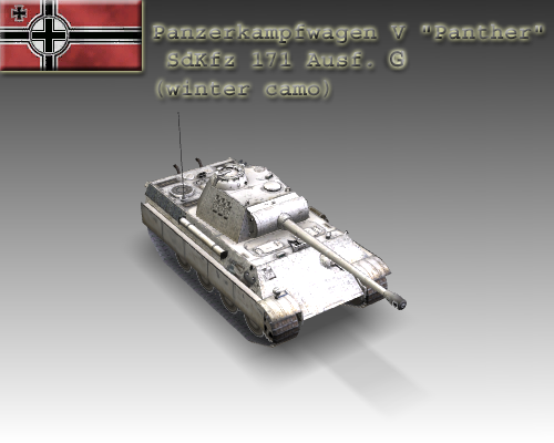 ww2 pz v panther sdkfz 171 ausf. g 3d загвар 3ds max c4d x луу 111192
