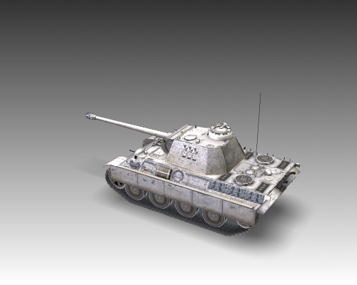 ww2 pz v panther sdkfz 171 ausf. g 3d загвар 3ds max c4d x луу 111193