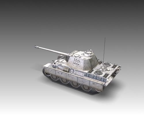 ww2 pz v panther sdkfz 171 ausf. g 3d model 3ds max c4d x lwo ma mb obj 111193