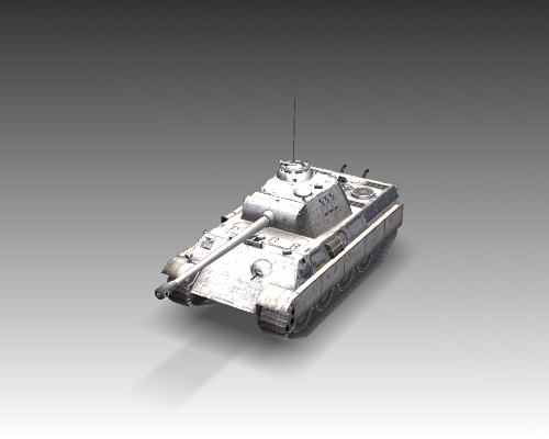ww2 pz v panther sdkfz 171 ausf. g 3d загвар 3ds max c4d x луу 111194