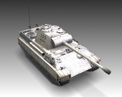 ww2 pz v panther sdkfz 171 ausf. g 3d загвар 3ds max c4d x луу 111195