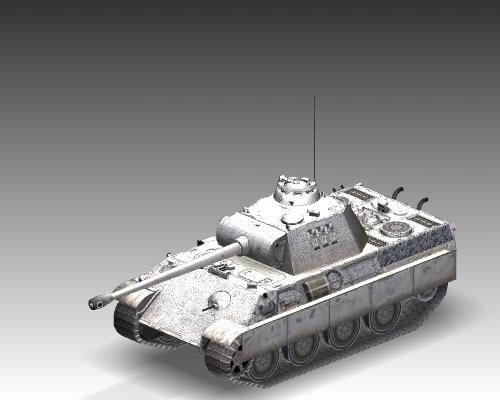 ww2 pz v panther sdkfz 171 ausf. g 3d model 3ds max c4d x lwo ma mb obj 111196