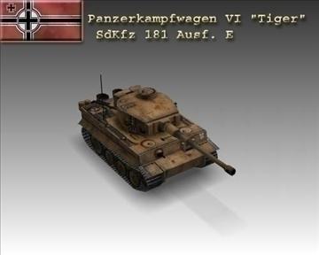 ww2 pz vi tiger sdkfz 181 ausf. 3d modelis 3ds max x lwo ma mb obj 100911