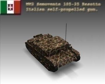 ww2 semovente 105 25 talijanski razarač tenkova. 3d model 3ds max x lwo ma mb obj 101620