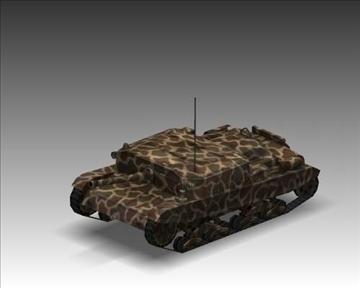 ww2 semovente 105 25 italian tank destroyer. 3d model 3ds max x lwo ma mb obj 101624
