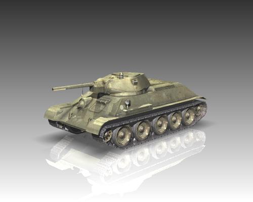 ww2 soviet tank t 34 3d model 3ds max x lwo ma mb obj 111152