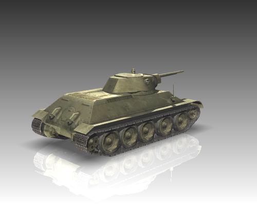 ww2 soviet tank t 34 3d model 3ds max x lwo ma mb obj 111153