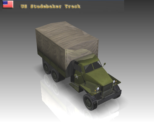 ww2 studebaker track 3d model 3ds max x lwo ma mb obj 111144