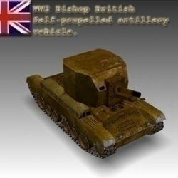 WW2 Bishop British artillery vehicle. ( 51.29KB jpg by WW2Model )