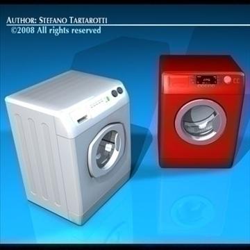 washing machines 3d model 3ds dxf c4d obj 86489
