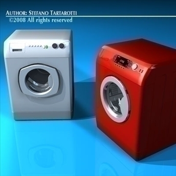 washing machines 3d model 3ds dxf c4d obj 86490