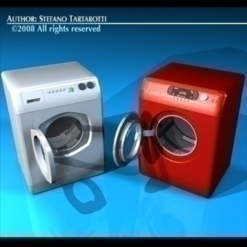 washing machines 3d model 3ds dxf c4d obj 86491