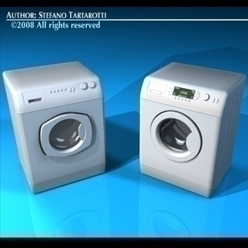 washing machines 3d model 3ds dxf c4d obj 86492