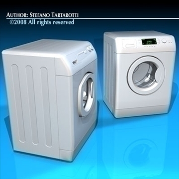 washing machines 3d model 3ds dxf c4d obj 86493