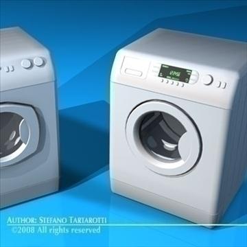 washing machines 3d model 3ds dxf c4d obj 86494