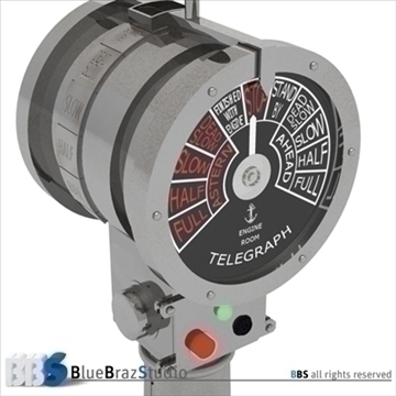 engine order telegraph 3d model 3ds dxf c4d obj 105628