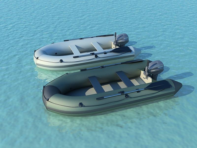 inflatable boats 3d model max 159919