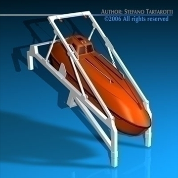 life boat free fall ramp 3d model 3ds dxf c4d obj 84837