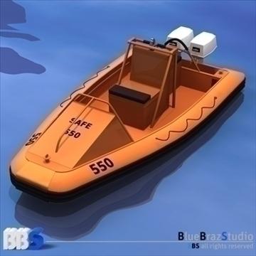 rescue boat 3d model 3ds dxf c4d obj 105748