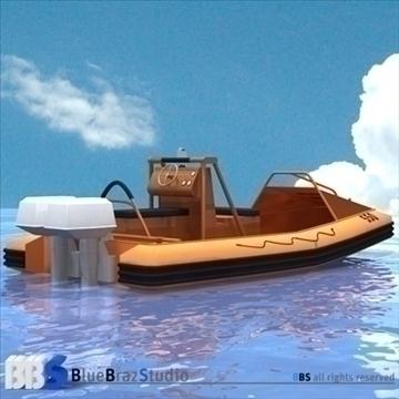 rescue boat 3d model 3ds dxf c4d obj 105749