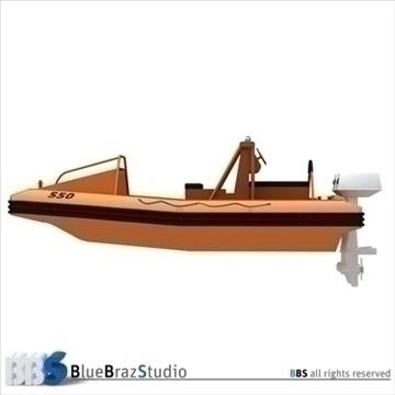rescue boat 3d model 3ds dxf c4d obj 105750