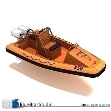 rescue boat 3d model 3ds dxf c4d obj 105751