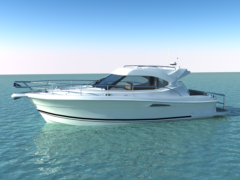 riviera 3600 sport yacht 3d model max 159744