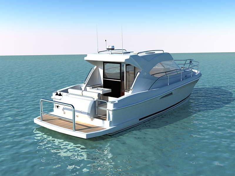 riviera 3600 sport yacht 3d model max 159745