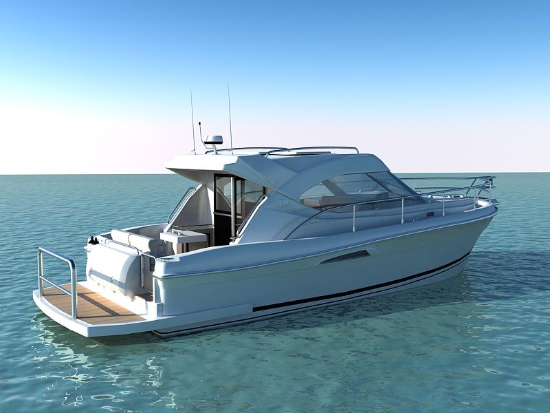 riviera 3600 sport yacht 3d model max 159746