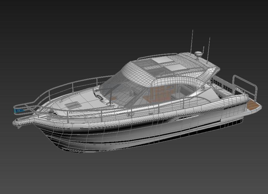 riviera 3600 sport yacht 3d model max 159747