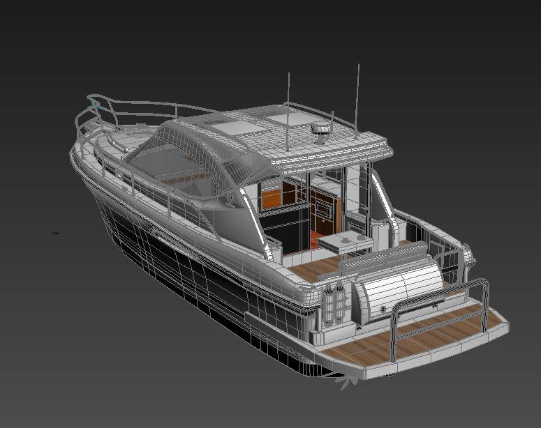 riviera 3600 sport yacht 3d model max 159748